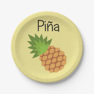 Assiettes En Papier Pina (ananas)