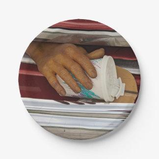 Assiettes En Papier Plaque à papier d'affichage de voiture