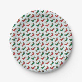 Assiettes En Papier Plaque à papier d'amusement de chien coloré de