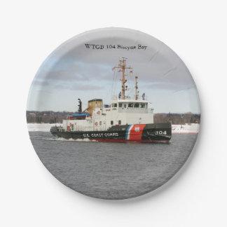 Assiettes En Papier Plaque à papier de baie de WTGB 104 Biscyne