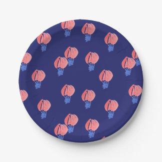Assiettes En Papier Plaque à papier de ballons à air petite