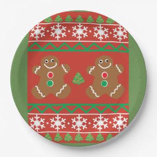 Assiettes En Papier Plaque à papier de chandail laid de Noël