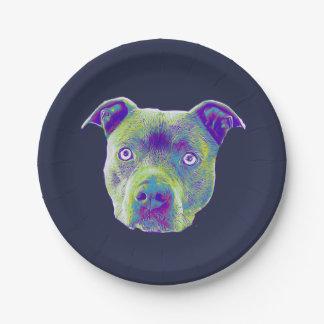 Assiettes En Papier Plaque à papier de chien de Pitbull