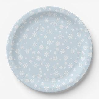 Assiettes En Papier Plaque à papier de flocons de neige