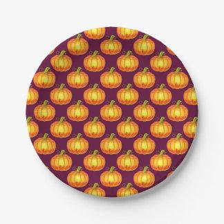 Assiettes En Papier Plaque à papier de Halloween avec les citrouilles