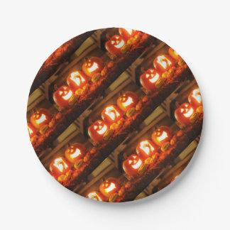 Assiettes En Papier Plaque à papier de Halloween Jack-o'-lantern