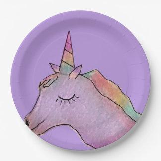 Assiettes En Papier Plaque à papier de licorne