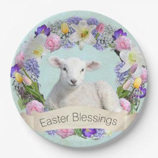 Assiettes En Papier Plaque à papier de Pâques de petit agneau