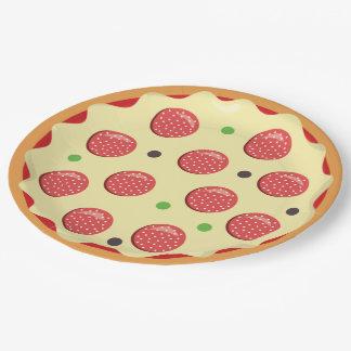 Assiettes En Papier Plaque à papier de partie de pizza d'amusement