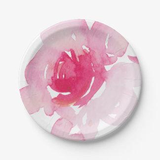 Assiettes En Papier Plaque à papier de premier rose