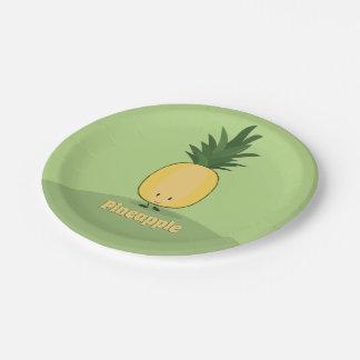 Assiettes En Papier Plaque à papier de sourire de l'ananas |