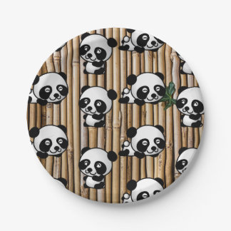 Assiettes En Papier Plaque à papier mignonne d'impression de panda et