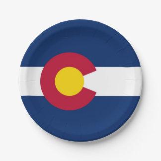 Assiettes En Papier Plaque à papier patriotique avec le drapeau du