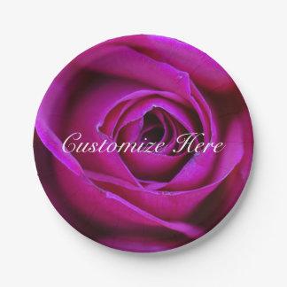 Assiettes En Papier Plaque à papier personnalisée de rose