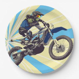 Assiettes En Papier Plaques à papier 9 de cavalier de Motorcross po