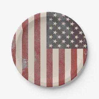 Assiettes En Papier Plaques à papier americana vintages de bannière