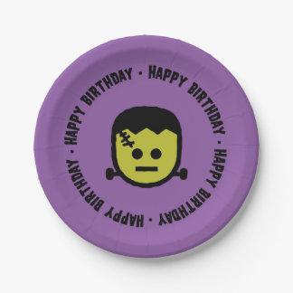Assiettes En Papier Plaques à papier d'anniversaire de Frankenstein