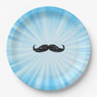 Assiettes En Papier Plaques à papier de baby shower bleu de moustache