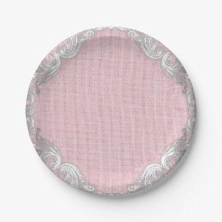 Assiettes En Papier Plaques à papier de baby shower de toile de jute