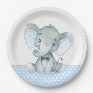 Assiettes En Papier Plaques à papier de baby shower d'éléphant de bébé