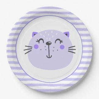 Assiettes En Papier Plaques à papier de baby shower pourpre mignon du