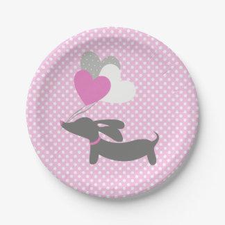 Assiettes En Papier Plaques à papier de baby shower rose de fille de