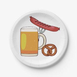 Assiettes En Papier Plaques à papier de BBQ d'Oktoberfest