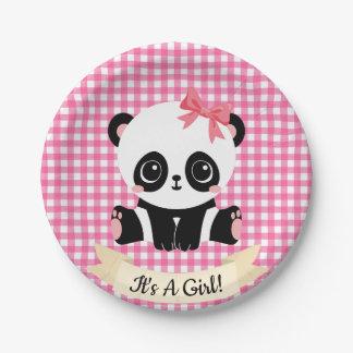 Assiettes En Papier Plaques à papier de bébé de panda de baby shower