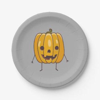 Assiettes En Papier Plaques à papier de citrouille de Halloween