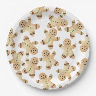 Assiettes En Papier Plaques à papier de dîner de Noël de bonhomme en