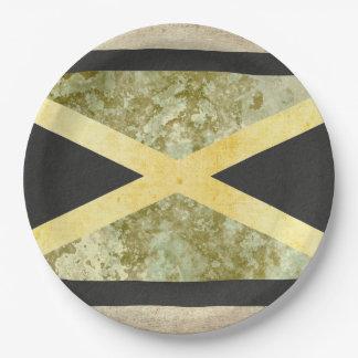 Assiettes En Papier Plaques à papier de drapeau de la Jamaïque