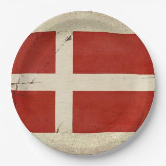 Assiettes En Papier Plaques à papier de drapeau du Danemark