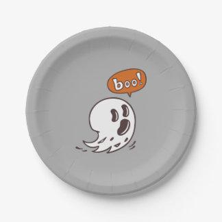 Assiettes En Papier Plaques à papier de fantôme de Halloween
