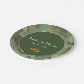 Assiettes En Papier Plaques à papier de mariage orienté d'armée