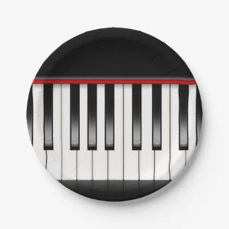 Assiettes En Papier Plaques à papier de musique d'amusement de piano