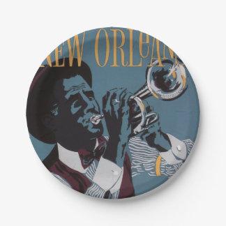 Assiettes En Papier Plaques à papier de musique de la Nouvelle-Orléans
