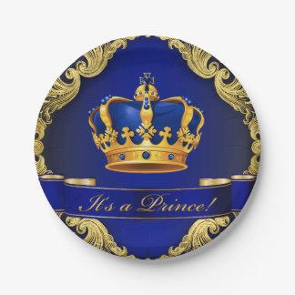 Assiettes En Papier Plaques à papier de prince baby shower