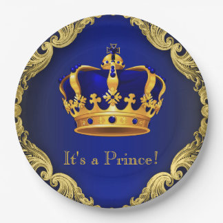 Assiettes En Papier Plaques à papier de prince baby shower de garçons