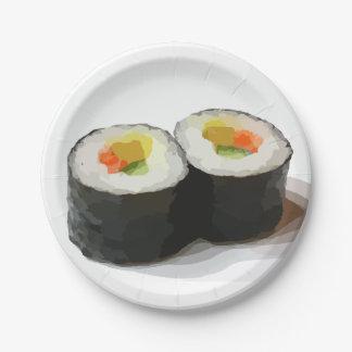 Assiettes En Papier Plaques à papier de sushi