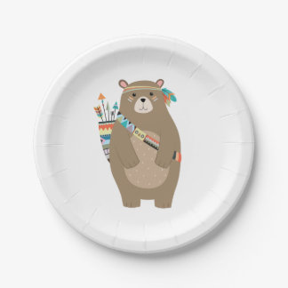 Assiettes En Papier Plaques à papier d'ours tribal