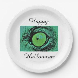 Assiettes En Papier Plaques à papier heureuses de Halloween par Jane
