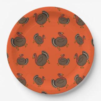 Assiettes En Papier Plaques à papier oranges de danse du Turkey Trot
