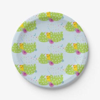 Assiettes En Papier Plaques à papier orientées de Pâques