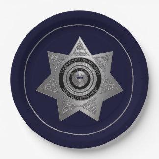 Assiettes En Papier PLAT de la Tulsa-Police-Département-Insigne-OPTION