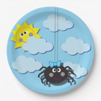 Assiettes En Papier Plat de partie d'araignée d'Itsy Bitsy