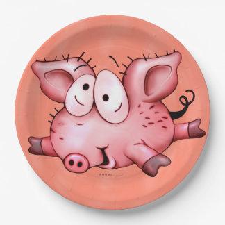 Assiettes En Papier PLAT de porc de Ti 9 POUCES d'orange