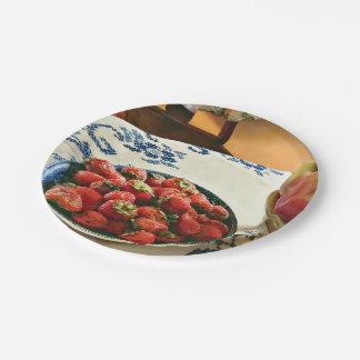 Assiettes En Papier Plat des fraises