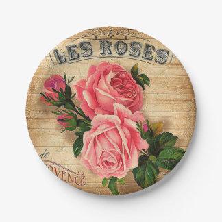 Assiettes En Papier Plat floral de réception en plein air de roses
