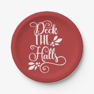 Assiettes En Papier plate-forme les vacances de typographie de halls