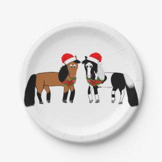 Assiettes En Papier Plats de cheval de Noël
